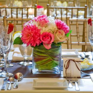 17979659 - wedding table decoration and floral centrepiece