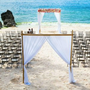 20440914 - wedding arch and chairs on the beach