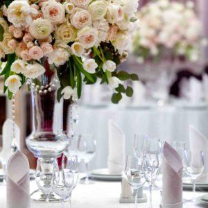 43870246 - dinner wedding table setting