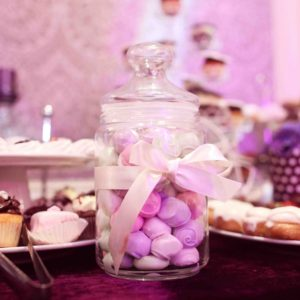 42325925 - mix of wedding sweets on table