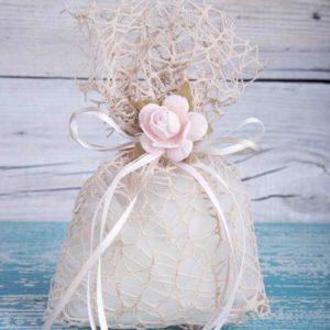 51844370 - wedding favor on old wooden table